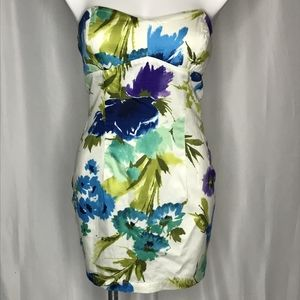 Twenty One Strapless Floral Cotton Dress sz M